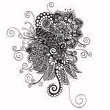 rysunkowej elementów wolnej ręki naturalny stylizowany Zdjęcia Stock