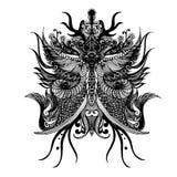 rysunkowej elementów wolnej ręki naturalny stylizowany Obraz Royalty Free