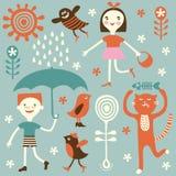 rysunkowi dzieciaki Zdjęcia Royalty Free