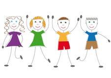 rysunkowi dzieciaki Zdjęcie Royalty Free