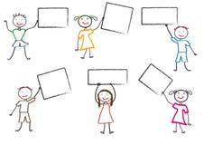 rysunkowi dzieciaki Fotografia Stock