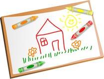 rysunkowi dzieciaki Obrazy Royalty Free