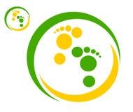Rysunkowi firma logo ślada mężczyzna ilustracja wektor