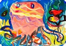 rysunkowi jellyfish Zdjęcie Stock