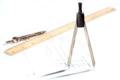 Rysunkowi narzędzia z rysunkiem Zdjęcia Royalty Free