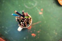 Rysunkowi ołówki Zdjęcia Stock