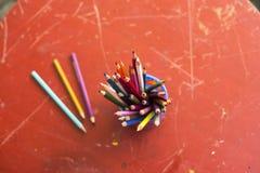 Rysunkowi ołówki Zdjęcie Royalty Free