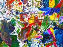 Rysunkowy abstrakcja plakata nastrój Zdjęcia Stock