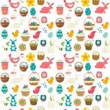 Rysunkowy bezszwowy Wielkanocny ornament Fotografia Stock