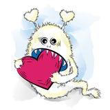 Rysunkowy chłodno potwór w miłości St walentynki Zdjęcia Royalty Free