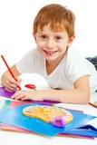 rysunkowy chłopiec preschool fotografia royalty free