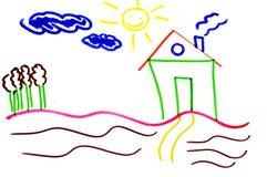 rysunkowy dom Obrazy Royalty Free