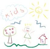 rysunkowy dzieciaków obrazka wektor Zdjęcia Stock