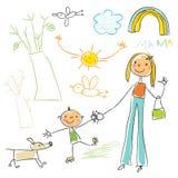 rysunkowy dzieciak ilustracja wektor