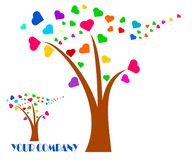 Rysunkowy firma logo drzewo ilustracji