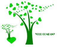 Rysunkowy firma logo drzewo royalty ilustracja