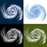 rysunkowy huraganowy set ilustracji