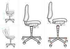 rysunkowy krzesła biuro Obrazy Royalty Free