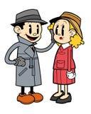 Rysunkowy mężczyzna i kobieta Zdjęcia Royalty Free