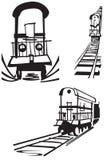 rysunkowy pociąg Obraz Royalty Free