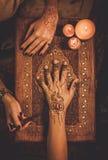 Rysunkowy proces henny menhdi ornament Zdjęcie Royalty Free