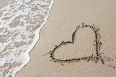 rysunkowy serce jeden Zdjęcie Stock