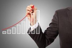 Rysunkowy wykres obraz stock