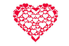 Rysunkowy wzór serca, symbol miłość, walentynki ` s dzień Zdjęcie Stock