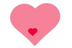 Rysunkowy wzór serca, symbol miłość, walentynki ` s dzień Zdjęcie Royalty Free