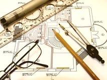 rysunkowy inżynier Zdjęcie Royalty Free