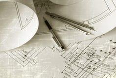 rysunkowy inżynier Obraz Stock