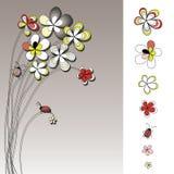 rysunkowych kwiatów graficzny setu wektor ilustracji