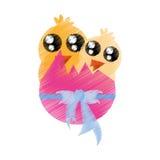 rysunkowych piękno kurczaków różowy jajko łamający Fotografia Royalty Free