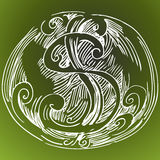 rysunku abstrakcjonistyczny dolarowy znak Zdjęcie Stock