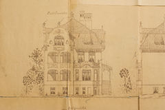 rysunku architektoniczny dom Zdjęcia Royalty Free