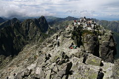 Rysy peak in Tatry mountains Stock Photos