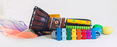 Rythm instruments rocket Stock Photography