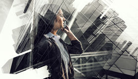 In rythm of modern tendency . Mixed media Stock Photography