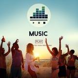 Rythme instrumental Melody Audio Concept de culture de musique illustration stock
