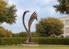 Rythmes de ` du ` de métropole par Andrew Rogers, Hall Park, Frisco, le Texas Photos libres de droits