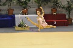 rythmic delphine gymnastisk ledoux Royaltyfri Fotografi