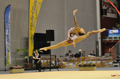 Rythmic gymnastic, Ekaterina Donich Royalty Free Stock Image