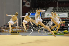 Rythmic gymnastic, french team Stock Images