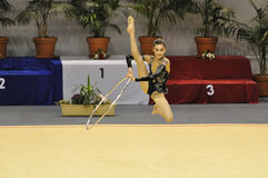 Rythmic Gymnastic, Marine Letul Royalty Free Stock Photo