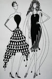 Rythmic suknie Fotografia Royalty Free
