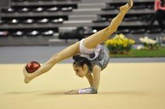 rythmic tokmac för gymnastisk rana Royaltyfria Bilder