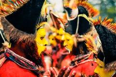 Rytmer i Papua Nya Guinea Arkivbilder