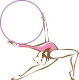 Rytmiczna gimnastyczka z obręczem ilustracji
