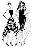Rytmiczne suknie Fotografia Royalty Free