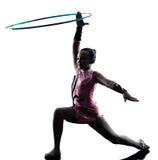 Rytmicznych gimnastyk małej dziewczynki dziecko zdjęcie stock